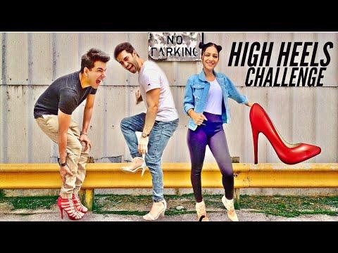 HIGH HEELS Challenge for 24 hours   Rimorav Vlogs - YouTube