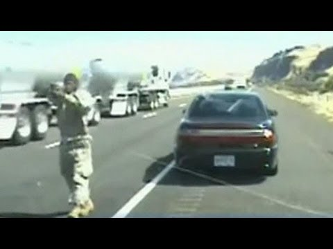 Shootout Caught on Tape: Driver opens fire on officer