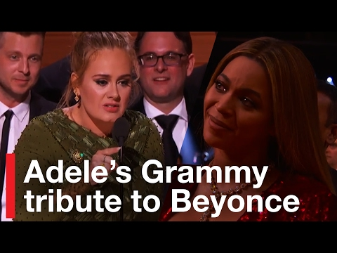 Adele's Grammy Tribute to Beyonce