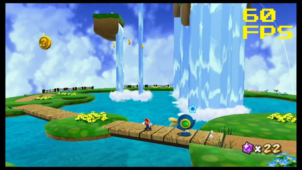 35. [60 FPS] Wall Jumping up Waterfalls - Beach Bowl Galaxy - Super ...