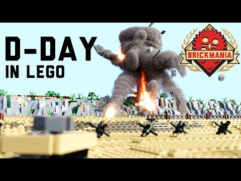 Micro Brick Battle | D-Day | WWII Lego Animation