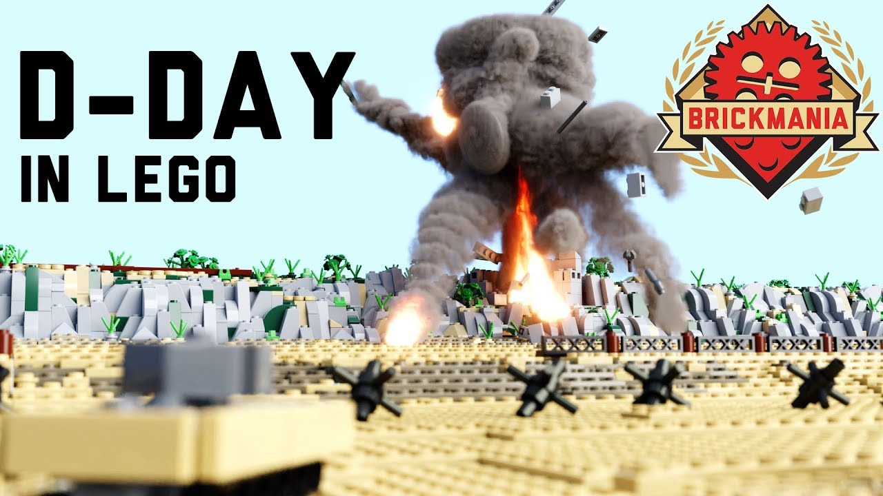 Drive A Tank >> Micro Brick Battle | D-Day | WWII Lego Animation - YouTube
