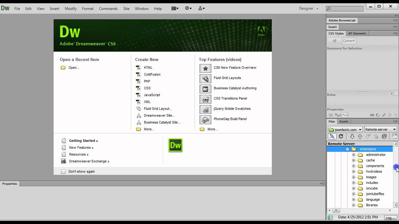 Editing joomlaxtc wall templates with dreamweaver cs6 for Free php templates for dreamweaver