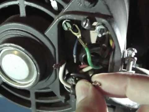 Replacing Power Cord on Air Compressor - YouTube