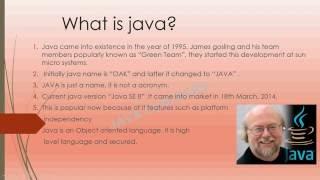 core JAVA Basic concepts - 1