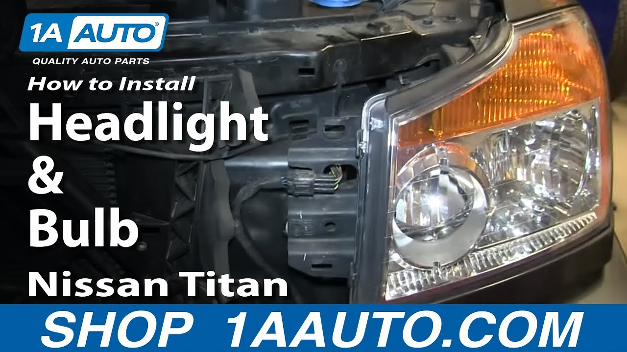 how to replace headlight 08 15 nissan titan [ 1280 x 720 Pixel ]
