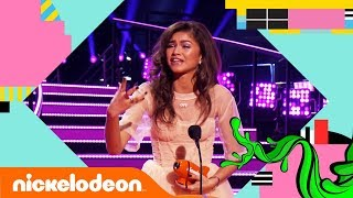 Zendaya Wins A Blimp For The 3rd Year In A Row! 🏆   Kids' Choice Awards 2018   Nick