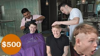 FaZe Try $500 Pro Barber Haircut VS. Free Haircut by Roommate