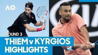 Dominic Thiem vs Nick Kyrgios Match Highlights (3R) | Australian Open 2021