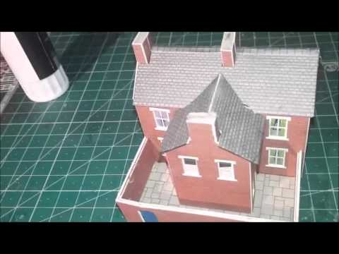 n gauge metcalfe pn 103 red brick terraced houses