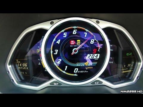 Lamborghini Aventador Roadster Launch Control 0-200 Km/h (Thrust Mode)