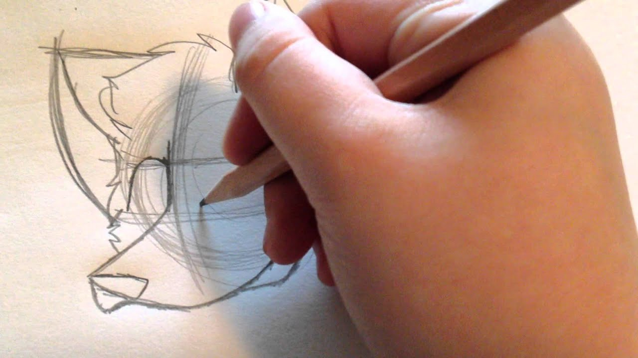 Line Drawing Cartoon Face : How to draw a cartoon wolf revised youtube