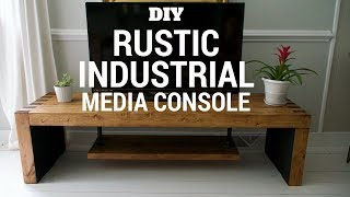 DIY Rustic & Industrial TV Console