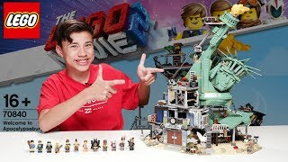 WELCOME TO APOCALYPSEBURG - LEGO MOVIE 2 Set 70840 - Time-lapse Build,  Unboxing, Review!
