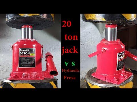 Can A 200 Ton Hydraulic Press Break A 20 Ton Jack?