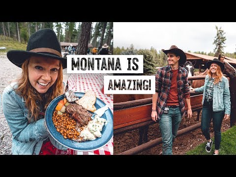 We Stayed on a RANCH in MONTANA! Campfire Steak Dinner, Glacier National Park & MORE!