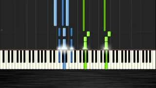 Daft Punk - Get Lucky - Easy Piano Tutorial by Pluta-X (50% Speed) Synthesia