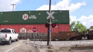 main street railroad crossing leighton al with the ns gorail unit