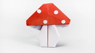 How to make a paper mushroom | Fly agaric origami