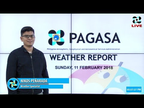 Public Weather Forecast Issued at 4:00 PM February 11, 2018