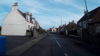Drive From Leven To Anstruther On The Coast Of East Neuk Of Fife Scotland