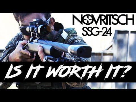 Novritsch SSG24 Airsoft Sniper Gameplay [ SWAMP SNIPER TEST ]