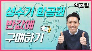 [핵꿀팁] 성수기 항공권 반값에 발권하기