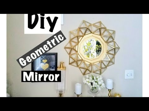 Diy Geometric Wall Mirror Home Decor Simple and Inexpensive!!!