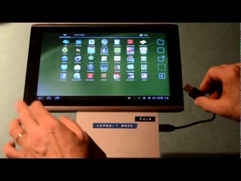 ACER ICONIA TAB A500 with a NTFS formated USB Hard Drive
