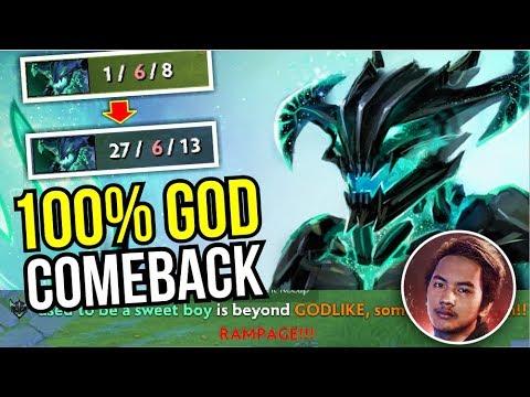 100% GOD MOVE - InyourdreaM Epic Comeback Rampage 4 vs 5 OD 7.07   Dota 2