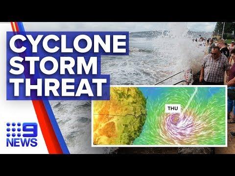 Violent Winds, Flash Floods As Cyclone Uesi Approaches | Nine News Australia