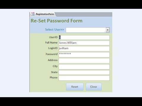Create Reset password form - YouTube