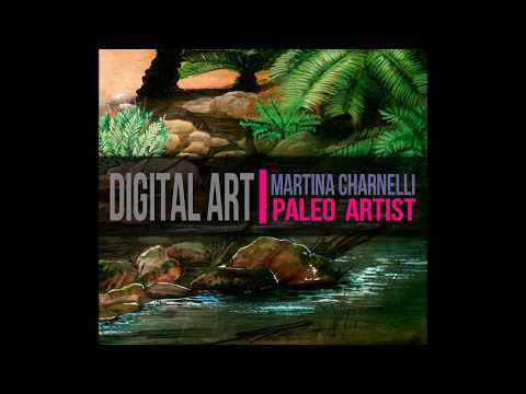 DIGITAL ART: PREHISTORIC LANDSCAPE 1ST PART/ paisaje prehistórico parte 1