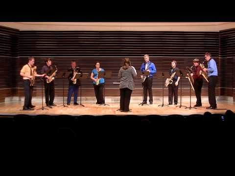 UT Saxophone Studio Ensemble - Three Preludes by George Gershwin