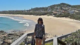 Пляжи Австралии: Пляж Маяк. Порт Маквари. Австралия с Жанкой