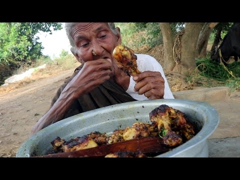 My 105 years Grandma's Yummy Chicken Drumstick Recipe || Tasty Chicken Drumsticks||Country Foods