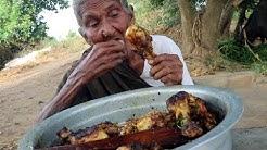 My 105 years Grandma's Yummy Chicken Drumstick Recipe || Tasty Chicken Drumsticks||Country Foods