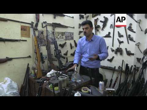 Business brisk for Kurdish gunsmith in Iraq