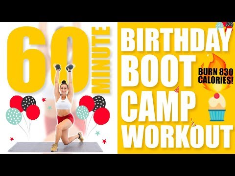 60 Minute Birthday Bootcamp Workout 🔥Burn 830 Calories! 🔥
