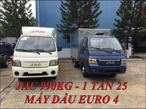 Gía xe tải JAC 990kg- 1 tấn 25 máy dầu - lốp đôi 2018 Euro 4| JAC cabin HYUNDAI - YouTube