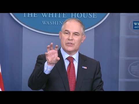 """""""You Know People Have Called Me A Climate Denier!"""" EPA Head Scott Pruitt On Climate Change"""