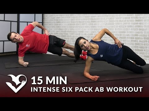 15 Minute Intense Six Pack Ab Workout No Equipment 15 Min Abs 6 Pack Workout