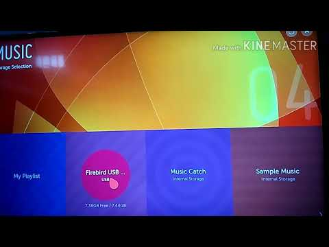 How to play music on LG Smart TV by using Pen Drive