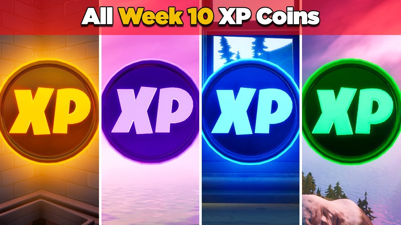 All XP Coins Location Guide WEEK 10 (Fortnite Chapter 2 Season 4)