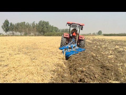 4MB Plough With Mahindra Arjun 555 & John Deere 5050E With 3MB Plough