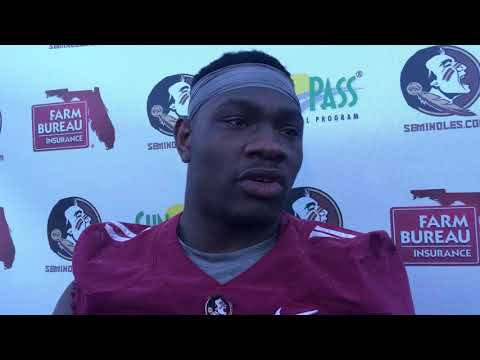 Janarius Robinson talks 2nd day of spring practice