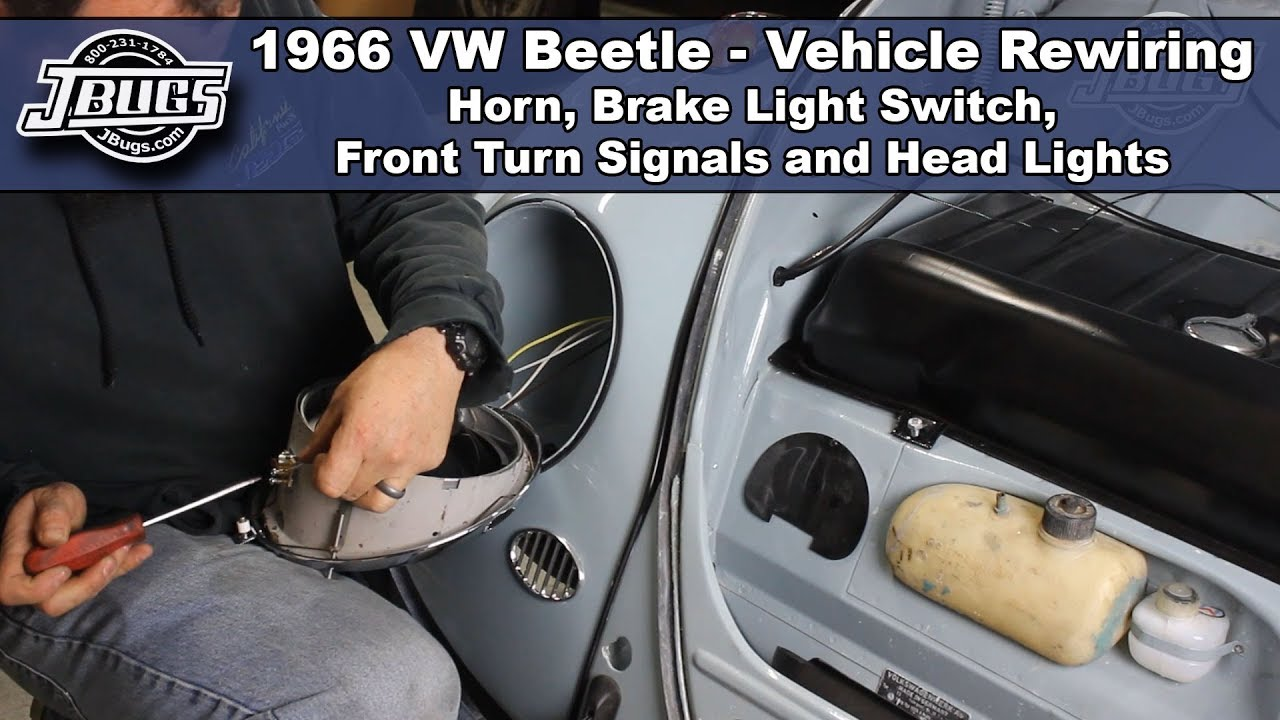 Jbugs 1966 Vw Beetle Vehicle Rewiring Front End Wiring Youtube