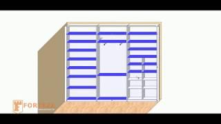 видео Шкафы с распашными дверями в гостиную: встроенные, классические, фото