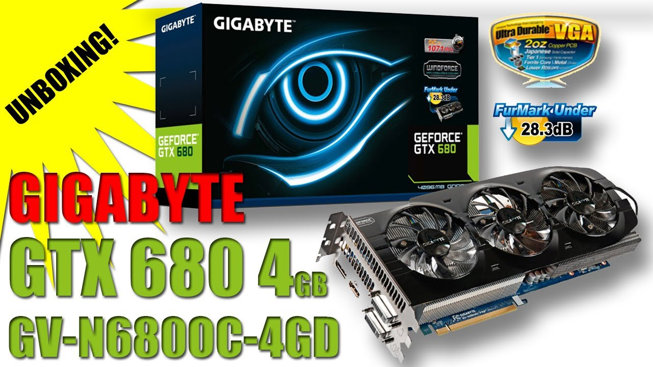 GeForce GTX 680 4GB GIGABYTE GV-N680OC-4GD Unboxing & Overview