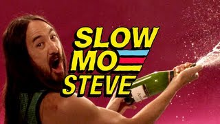 Spraying Champagne - Slow Mo Steve Aoki #5